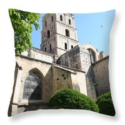 St Trophimus Courtyard Throw Pillow