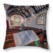 St Tysilios Bible Throw Pillow