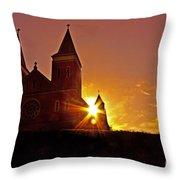 St Vincent Basilica At Sunset Throw Pillow