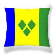 St. Vincent Flag Throw Pillow