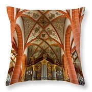 St Wendel Basilica Organ Throw Pillow