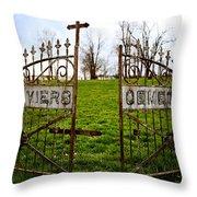 St. Xaviers Cemetery Throw Pillow