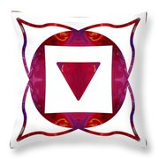 Stabilized Emotions And Thoughtful Feelings Abstract Chakra Art  Throw Pillow