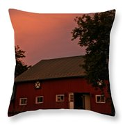 Stable Barn Throw Pillow
