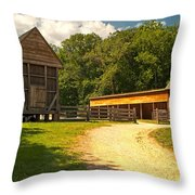 Stable Entrance Throw Pillow