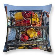 Stack Of Crab Pots Throw Pillow