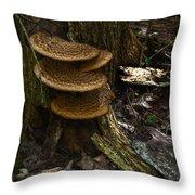 Stack Of Fungi Throw Pillow