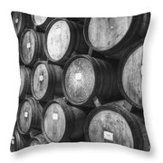 Stacked Barrels Throw Pillow