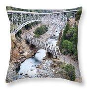Stacked Bridges Throw Pillow