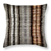 Stacked Coins Throw Pillow