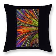 Stacked Colors Throw Pillow