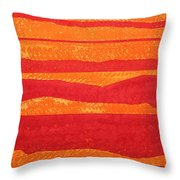 Stacked Landscapes Original Painting Throw Pillow