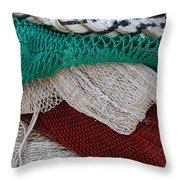 Stacked Nets And Ropes Throw Pillow