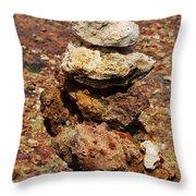 Stacked Rocks In Aruba Throw Pillow