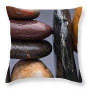 Stacked Stones 2 Throw Pillow by Steve Gadomski