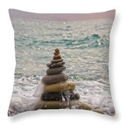 Stacking Stones Throw Pillow