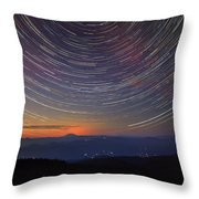 Stacking The Stars At Larch Mountain Throw Pillow