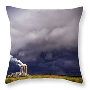 Stacks In The Clouds Throw Pillow