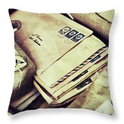 Stacks Of Old Mail Throw Pillow