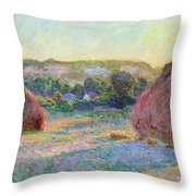 Stacks Of Wheat. End Of Summer Throw Pillow