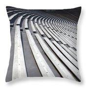 Stadium Bleachers Throw Pillow