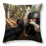 Staff Sergeant Hydrates Throw Pillow