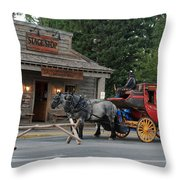 Stage Stop Throw Pillow