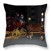 Stagecoach And Horses Throw Pillow