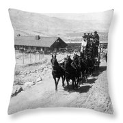Stagecoach, C Throw Pillow