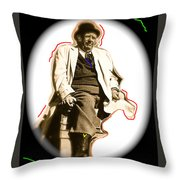 Stagecoach Homage 1939 Andy Devine On Stage Old Tucson Arizona Throw Pillow