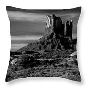 Stagecoach Rock Monument Valley Throw Pillow