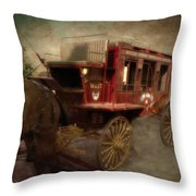 Stagecoach West Sepia Textured Throw Pillow