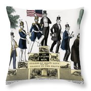 Stages Of A Mans Life  1848 Throw Pillow