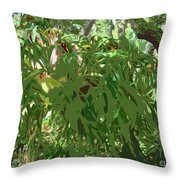 Staghorn Cutout Throw Pillow