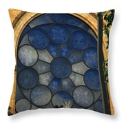 Stain Glass Church Window Throw Pillow