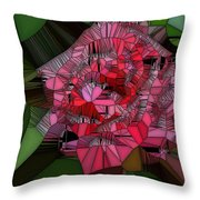 Stain Glass Rose Throw Pillow