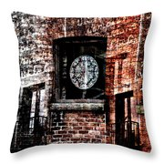 Stained Brick Throw Pillow