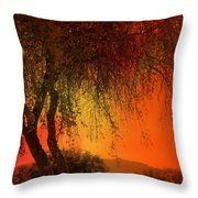 Stained By The Sunset Throw Pillow