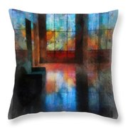 Stained Glass 01 Photo Art Throw Pillow