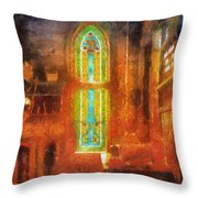 Stained Glass 05 Photo Art Throw Pillow