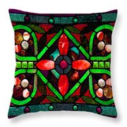 Stained Glass 2 Throw Pillow