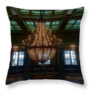 Stained Glass And Chandelier  Throw Pillow