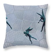Stained Glass Angels Throw Pillow
