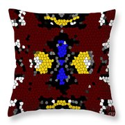 Stained Glass Art Abstract Throw Pillow