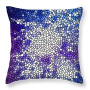 Stained Glass Beautiful Fireworks 1 Throw Pillow