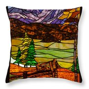 Stained-glass-beauty Throw Pillow