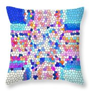 Stained Glass Colorful Cross Throw Pillow