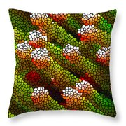 Stained Glass Coral Reef 1 Throw Pillow by Lanjee Chee