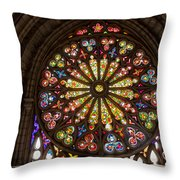 Stained Glass Details Throw Pillow