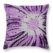 Stained Glass Flower With Purple Stripes Throw Pillow